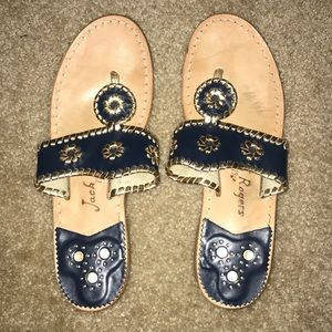 Jack Rogers - Navy & Gold